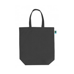 Canvas tas fair trade + GOTS Zwart | 300 grams | 42 x 40 + 12 cm