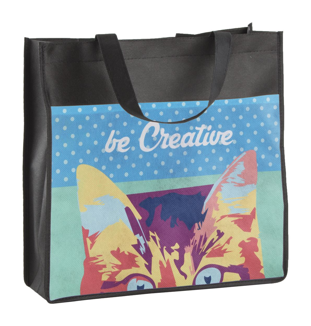 Full color non woven shopper